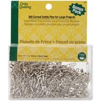 Size 1 300/Pkg - Dritz Quilting Steel Curved Basting Pins