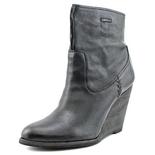 Frye CECE Artisan Short   Open Toe Leather  Wedge Heel