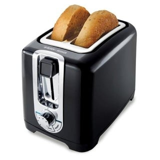 Applica TR1256Bb Black & Decker TR1256B 850-Watt 2-Slice Toaster with Bagel Function and Removable Crumb Tray