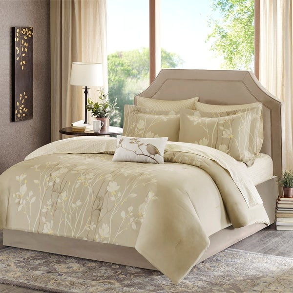 Copper Grove Evanoff Taupe Comforter Set. Opens flyout.