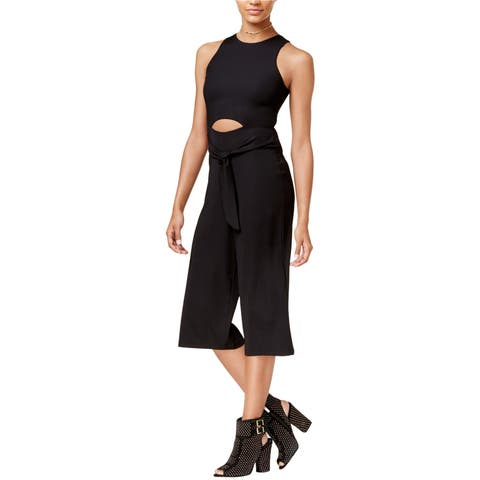 Material Girl Womens Cutout Gaucho Jumpsuit