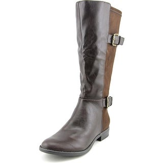 Life Stride Rockin Wide Calf Women Round Toe Synthetic Brown Knee High Boot