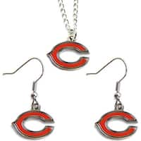 Chicago Bears Necklace and Dangle Earring Charm Set NFL