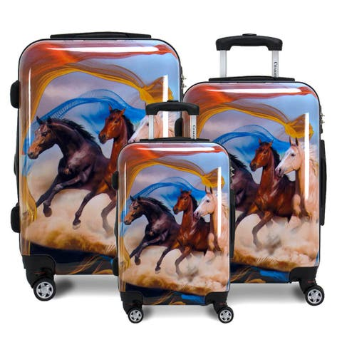 Mustang Horse Hardside 3-Piece Spinner Luggage Set