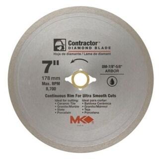 "MK Diamond 167029 Mk-99 Arbor Continuous Rim Diamond Blade, 7"" x .060"" x 5/8"""