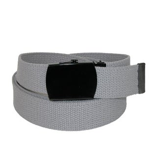 CTM® Fabric Big & Tall Adjustable Belt with Black Buckle (4 options available)