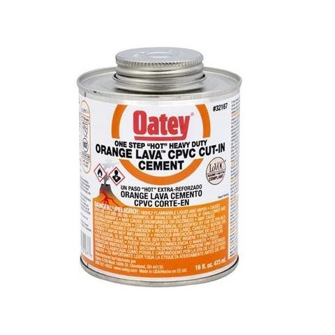 Oatey 32166 CPVC Orange Lava Heavy Duty Orange Cement, 8 Oz