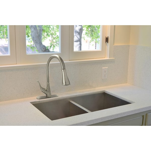 Wmf 8101d Bn Hybrid Metal Deck Single Handle Kitchen Sink Faucet Ceramic Cartridge With Pull Down Spray Brushed Nickel Finish Overstock 31964928
