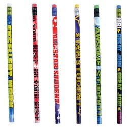 """Lot Of 144 Assorted Student Motivational Inspiration Saying Wood Pencils - 7.5"""""""