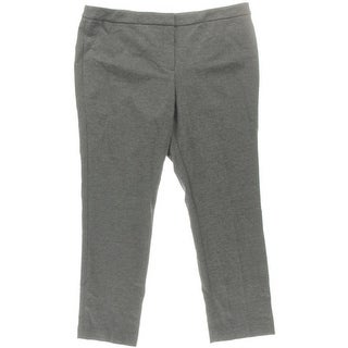 Kasper Womens Petites Kristy Ponte Slim Fit Straight Leg Pants