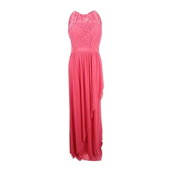 e7e1c81eb7a Shop Adrianna Papell Women s Lace Illusion Halter Gown (8