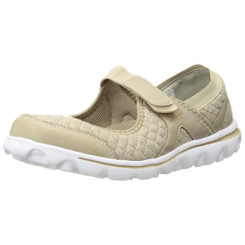 Propét Womens Onalee Fabric Closed Toe Mary Jane Flats