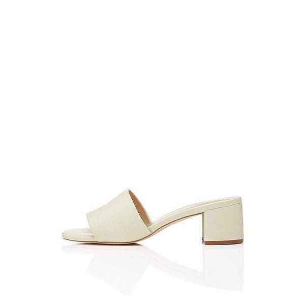 e013bd90ace65 Shop Amazon Brand - find. Women's Block Heel Mule Open-Toe Sandals ...