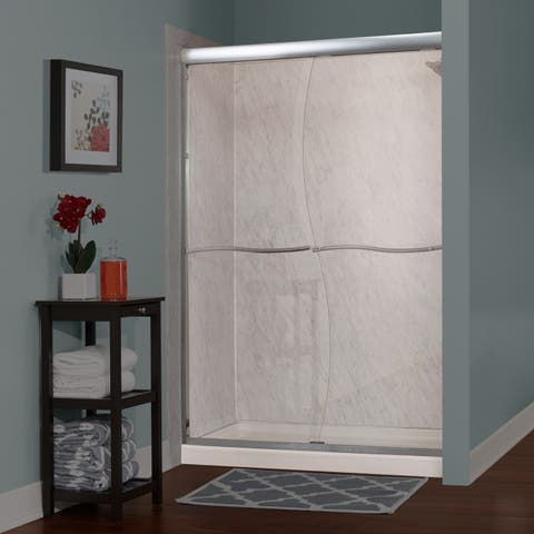 """Miseno MSDS4872Q Suave 72"""" High x 46-48"""" Wide Sliding Framed Shower Door with 1/4"""" Clear Glass -"""