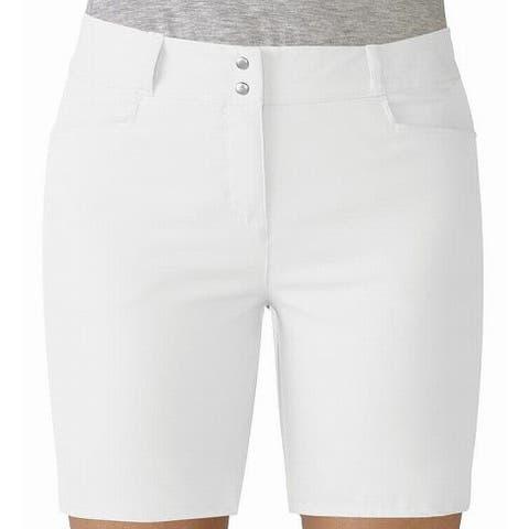 Adidas Bright White Womens Size 8 Solid Bermuda Walking Shorts