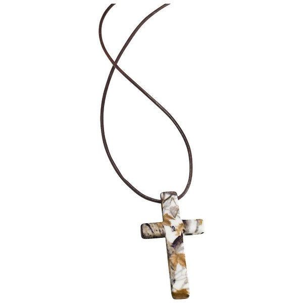 Legendary Whitetails Women's Metal God's Country Camo Cross Necklace