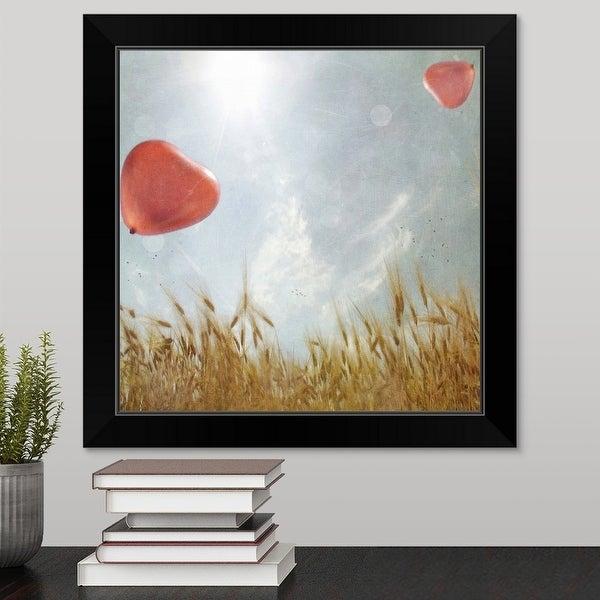 """""""Heart balloon"""" Black Framed Print"""