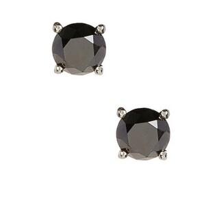 1-ct Black Diamond Stud