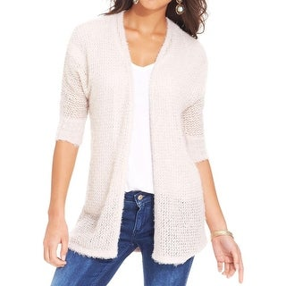 Love Always Womens Cardigan Sweater Knit 3/4 Sleeves