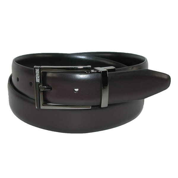 Kenneth Cole Reaction Men's Reversible Belt with Gun Metal Buckle