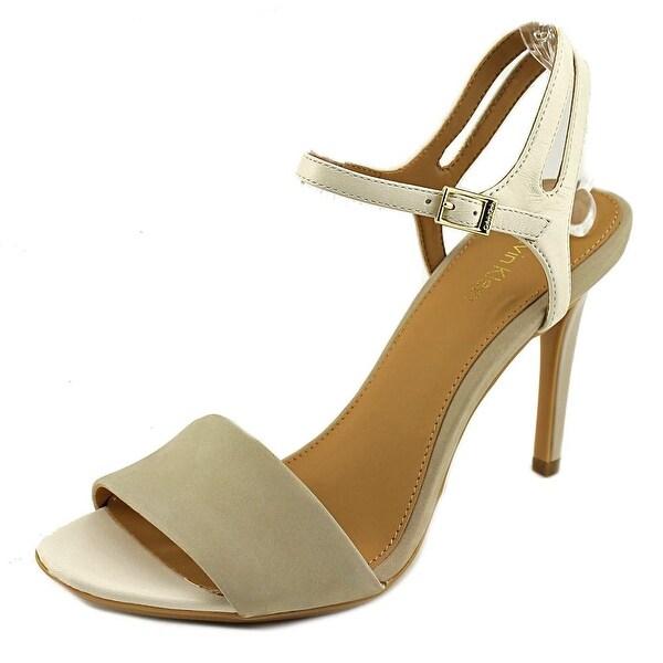 Calvin Klein Nadina Women Open Toe Leather Gray Sandals