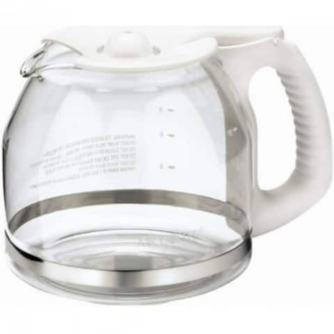 Mr. Coffee PLD13-NP Replacement Glass Carafe/Decanter, White, 12-Cup