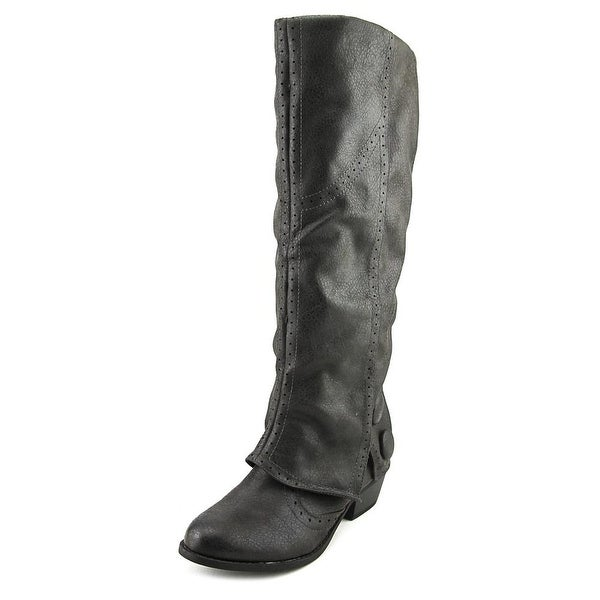 Not Rated Blanchee Women Round Toe Synthetic Gray Knee High Boot