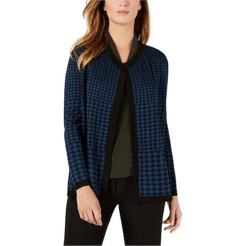 Anne Klein Womens Jacquard Cardigan Sweater