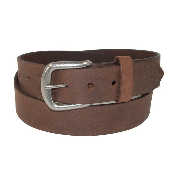 Boston Leather Men's Chieftain Leather Belt with Removable Roller Buckle