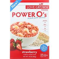 Love Grown Foods - Strawberry Power O's Cereal ( 6 - 10 OZ)