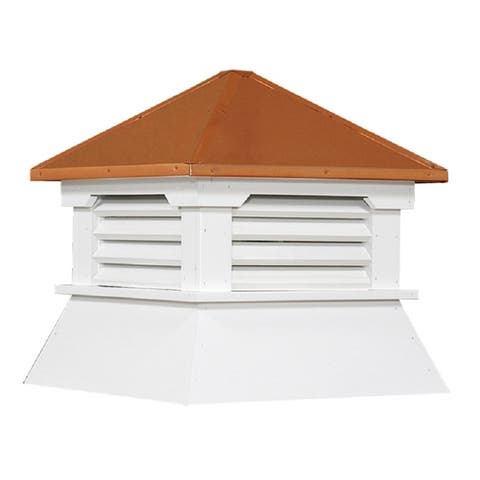 Select Series Square Vinyl Cupola with Copper Roof