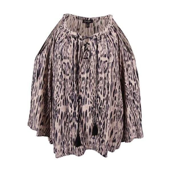 7516829b210 Shop Jessica Simpson Women s Plus Size Printed Cold-Shoulder Peasant Top  (1X