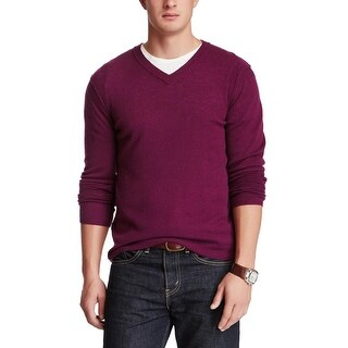 Inhabit Mens Pure Cashmere Crew Neck Lightweight Sweater XL Violet