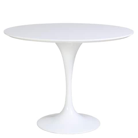 "Allie 39"" Round Table - White"