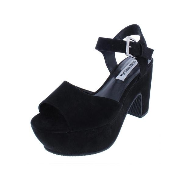 a6e63b8d709 Shop Steve Madden Womens Leni Platform Sandals Suedette Block Heels ...