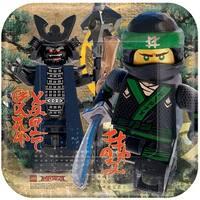 """The LEGO Ninjago Movie 9"""" Square Paper Plates, 8 Count - Multi"""