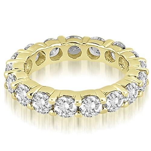 4.80 cttw. 14K Yellow Gold Round Diamond Eternity Ring