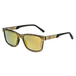 Earth Wood Tide Unisex Wood Sunglasses - 100% UVA/UVB Prorection - Polarized/Mirrored Lens - Multi