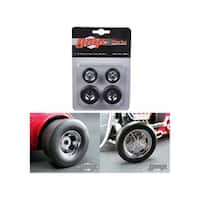 Chromed Hot Rod Drag Wheels and Tires Set of 4 1/18 by GMP