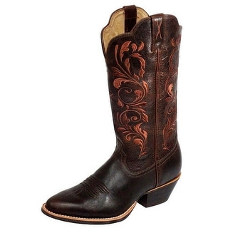 Twisted X Western Boots Womens Leather Cowboy Chocolate WWT0032