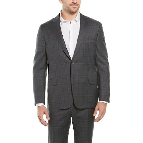 Hickey Freeman 2Pc Beacon Wool Suit With Flat Pant - Charcoal