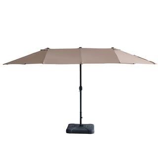 Link to 15ft Patio Umbrella Double-sided Outdoor Garden Market Sun Shade Crank Similar Items in Patio Umbrellas & Shades