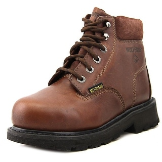 "Wolverine Cannonsburg 6"" Steel Toe Leather Work Boot"