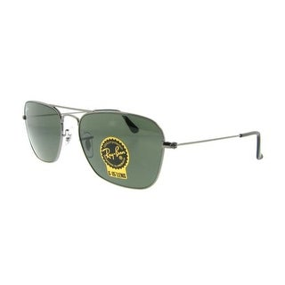 RAY-BAN Aviator RB 3136 Unisex 004 Gunmetal Green G-15 Sunglasses - 55mm-15mm-140mm