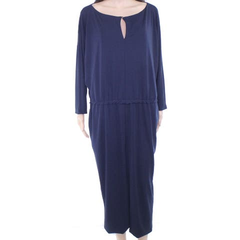 Lauren by Ralph Lauren Women's Jumpsuit Blue Size Large L Keyhole