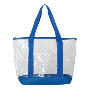 ba36189c419 Shop Liberty Bags Clear Boat Tote - Royal - One Size - Free Shipping On  Orders Over $45 - Overstock - 16206684
