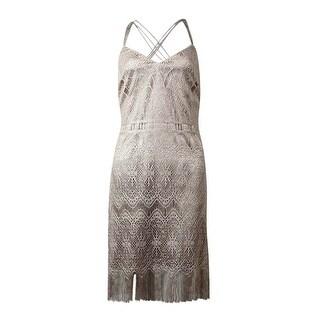 Jessica Simpson Women's Bodycon V-neck Dress - Gold - 6