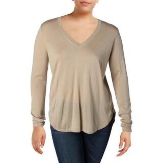 Lauren Ralph Lauren Womens Sweater Knit Hi-Low Hem
