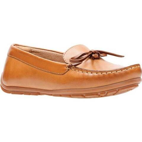 519f7584ed54 Clarks Women s Dameo Swing Driving Moc Light Tan Full Grain Leather