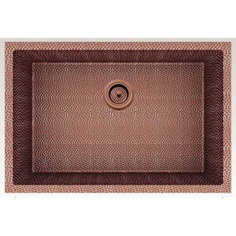 American Imaginations 27-in. W CSA Approved Rose Copper Kitchen Sink With Copper Finish And 16 Gauge - 18